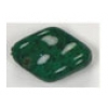 Glass Bead 19x13mm Baroque Green Matrix Strung
